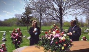 funeral doves release photo graveside,